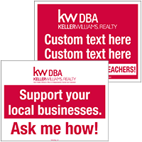 Keller Williams Real Estate Signs, Realtor Open House Signs