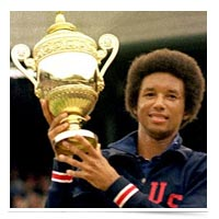 Arthur Ashe, tennis champion.