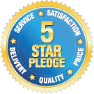 Find our about our 5 Star Pledge.