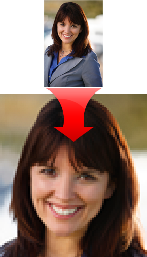 Enlarging low res images.