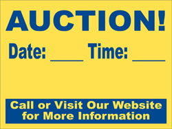 Auction Signs